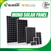 High efficiency 5w to 300w solar panel with frame and MC4 connector, price per watt solar panels