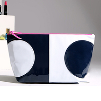Fashion beauty colourful patent pu cosmetic makeup bag for girls with logos