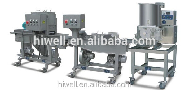 small scale hamburger maker forming food processing line