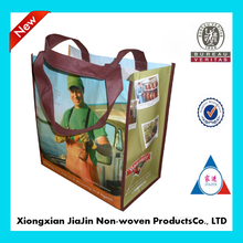 factory custom laminated colorful non woven tote bags