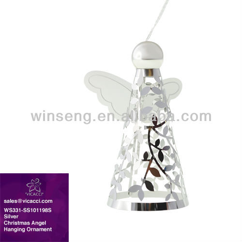 Hot Sale Silver Christmas Angel Hanging Ornament Stand WS331-SS101198S