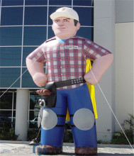 20ft tall giant custom inflatable construction worker/ inflatable men model