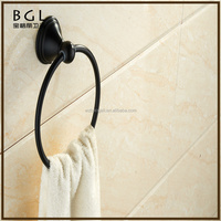 Hotel decorative American style Zinc alloy ORB bathroom toilet articles Wall mounted Towel rack