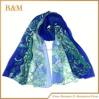high quality skull silk scarf