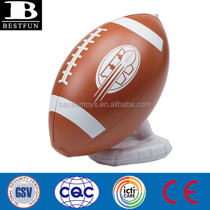 promotional custom inflatable kick off stand vinyl inflatable football kick off stand