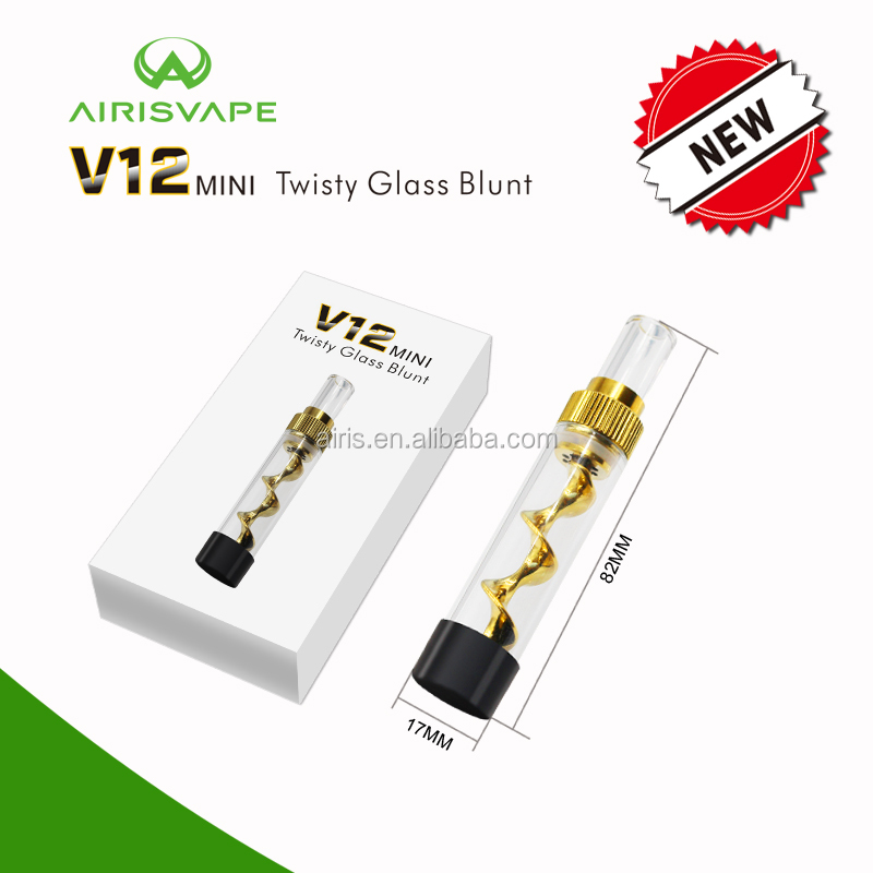 Twisty glass blunt 2017 Innovative AIRISTECH mini twisty Smoking Glass Accessories Twisty Glass blunt
