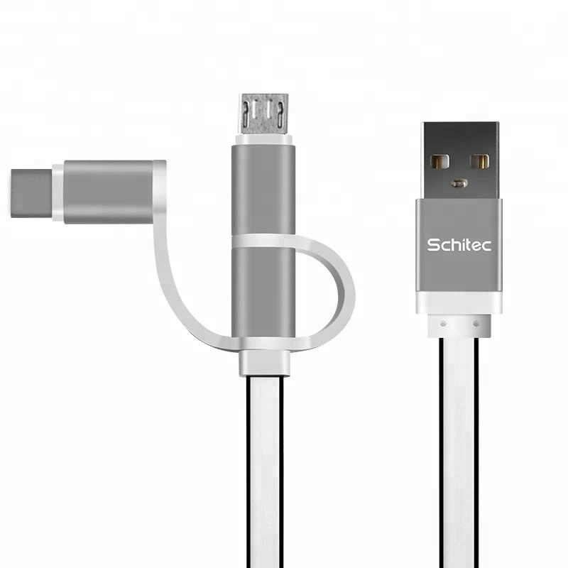Usb shielded high speed cable 2.0 usb cable 3 in 1 usb charging cable