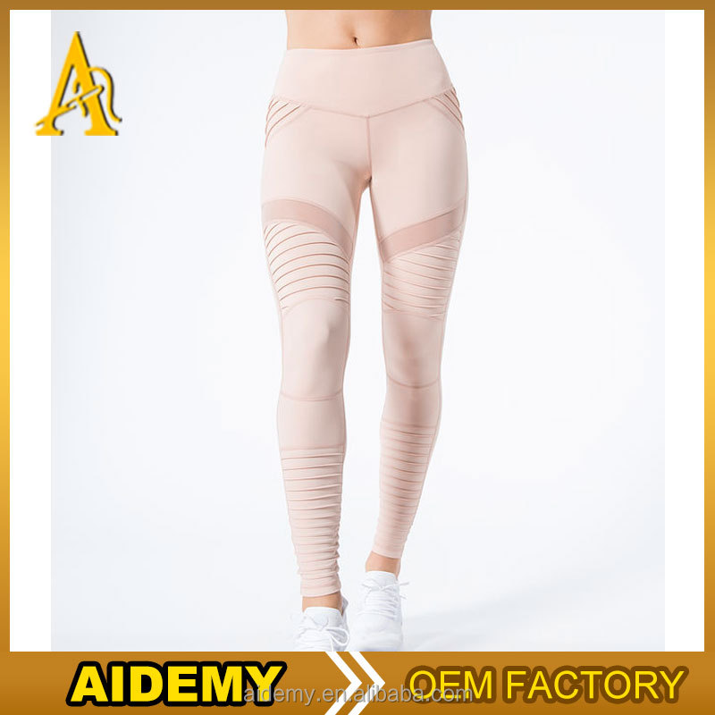 Fitness Sports Leggings Active Workout Sexy Yoga Gym Pants With Mesh 2017