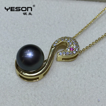 Yeson hot design sterling silver pearl mounting cage pendant for low price