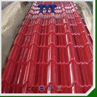 color coated steel roofing tile/red color coated steel roofing tile/thin color coated steel roofing tile
