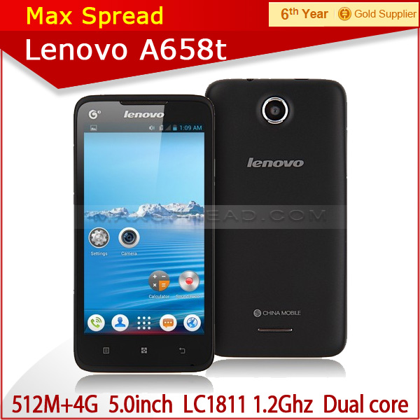 Android 4.0 Lenovo A658t Smartphone LC1811 Dual Core 4GB IPS Screen cell phone