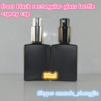China manufactures empty 30ml matte black man perfume bottles made in china