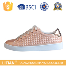special pu with rubber sole popular ladies design 2016 women flat shoes