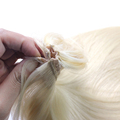 Durable Virgin Human Hair Color #613 Blonde Shandes Halo Hair Extensions
