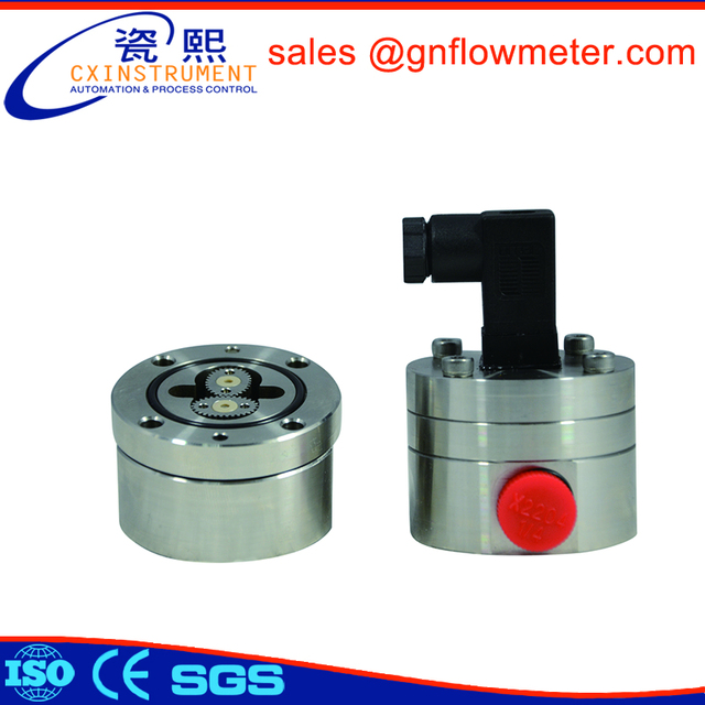 Biodegradable hydraulic oil oval gear flow measurement