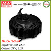 Meanwell HBG-160-24 round shape dimming led driver