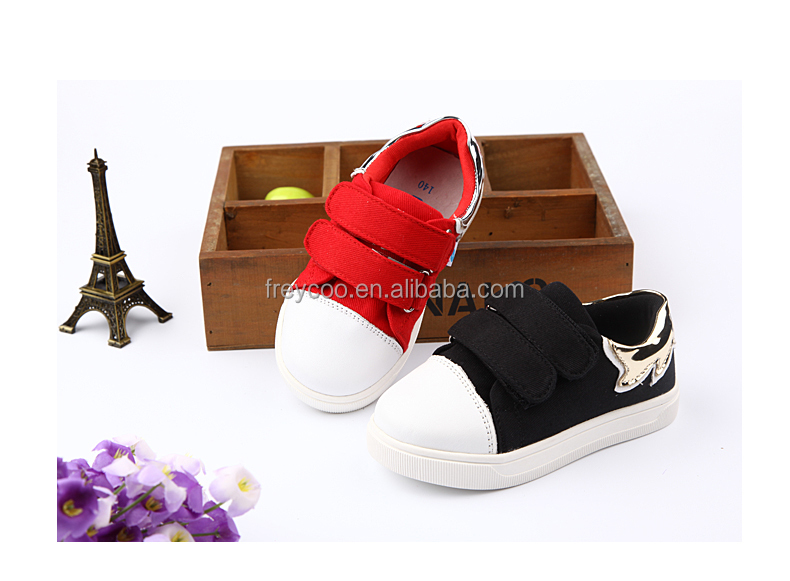 High quality Black baby shoes casual kids shoes kids canvas shoes