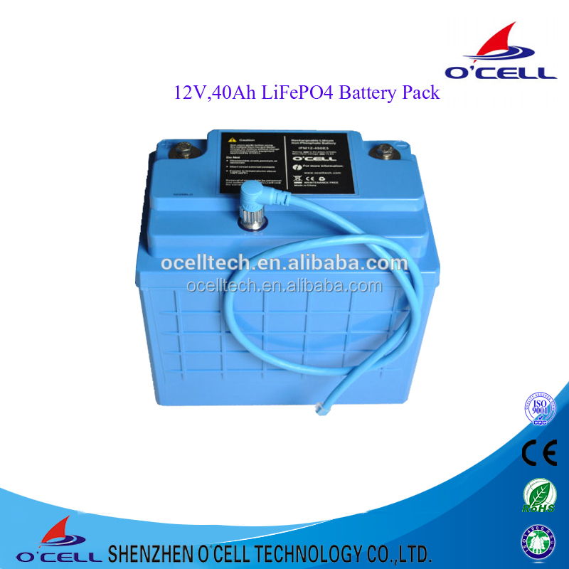 Lithium Iron Phosphate 18650 lifepo4 battery 12v 40ah with CE Certificate for solar Energy Storage Battery