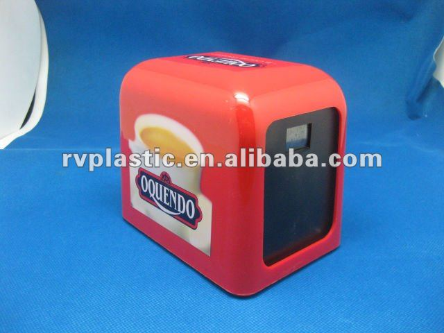 2016 promotional plastic napkin/tissue dispenser napkin box/tissue box