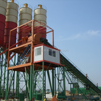 Efficient HZS90 Central Mixing Concrete Batch Plant