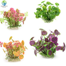 Four kinds of different color and beautiful lotus leaf artificial aquatic plants