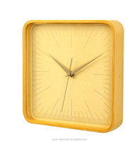 2015 luxury square wood frame wooden wall clock/ Decorative art clock/10 inch Wall clock/ promotional gift
