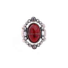 Vintage style jewelry red gemstone rings women's aqeeq ring