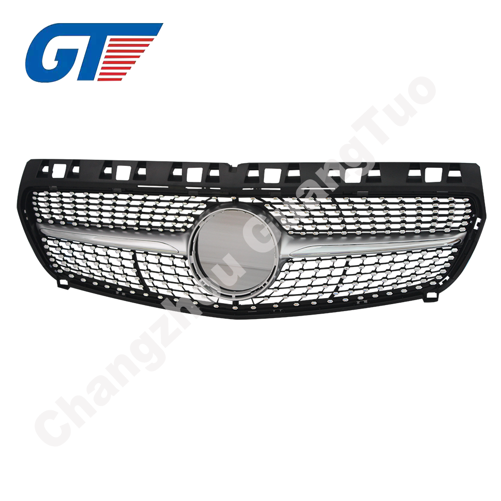 Front Diamond Silver Grille for Mercedes