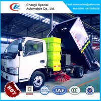 Best quality road sweeper truck,4m3 off road suction road sweeper truck,high efficient vacuum road sweeper truck