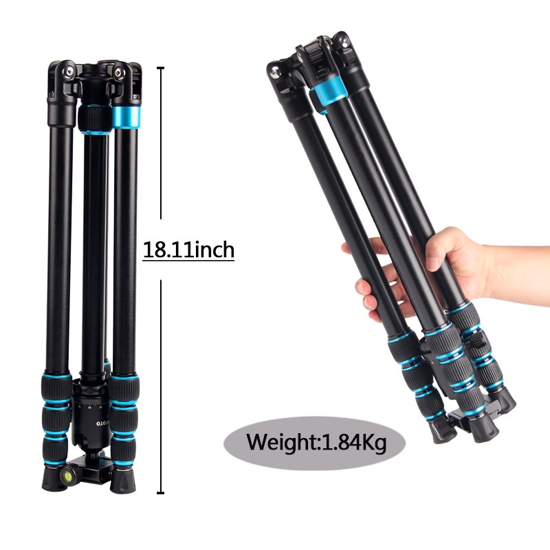 Traveler dslr camera video tripod aluminum leg monopod with 360 Panorama Ball head