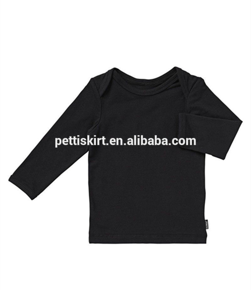Long sleeve t shirt 100% coton blouse latest shirt designs for boys wholesale children clothing usa