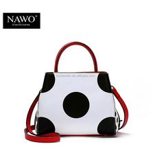 Long single strap lady leather summer dot tote bag women shoulder bag