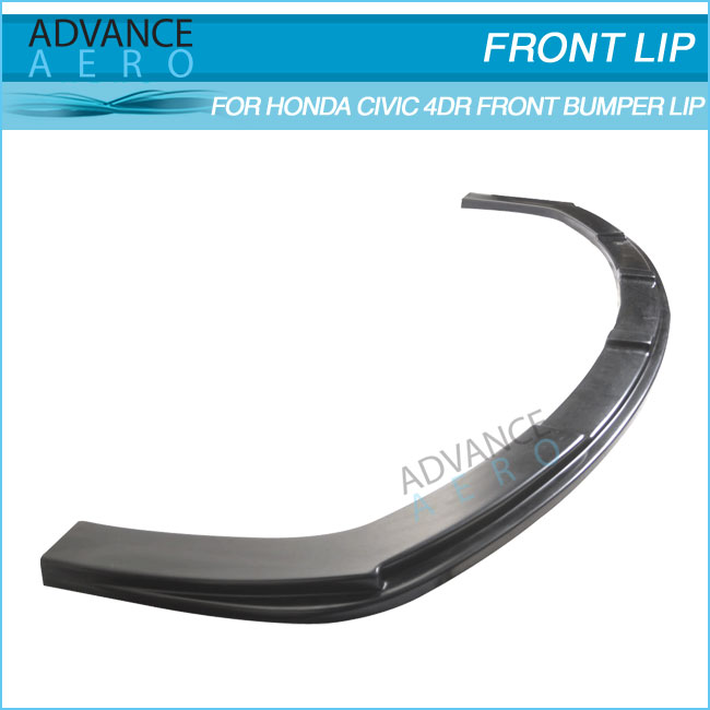 FOR 2006 2007 2008 2009 2010 2011 HONDA CIVIC SEDAN FRONT LIP MUGEN RR STYLE PP FRONT BUMPER LIP