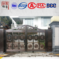 Modern arch shaped frame main copper door design