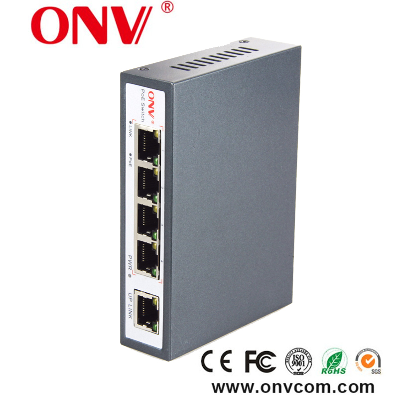 Hot sale intelligent 4 port ethernet poe switch for security system