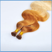 Hot selling good feedback remy u tip keratin human hair extension ombre nail u tip fusion hair extension