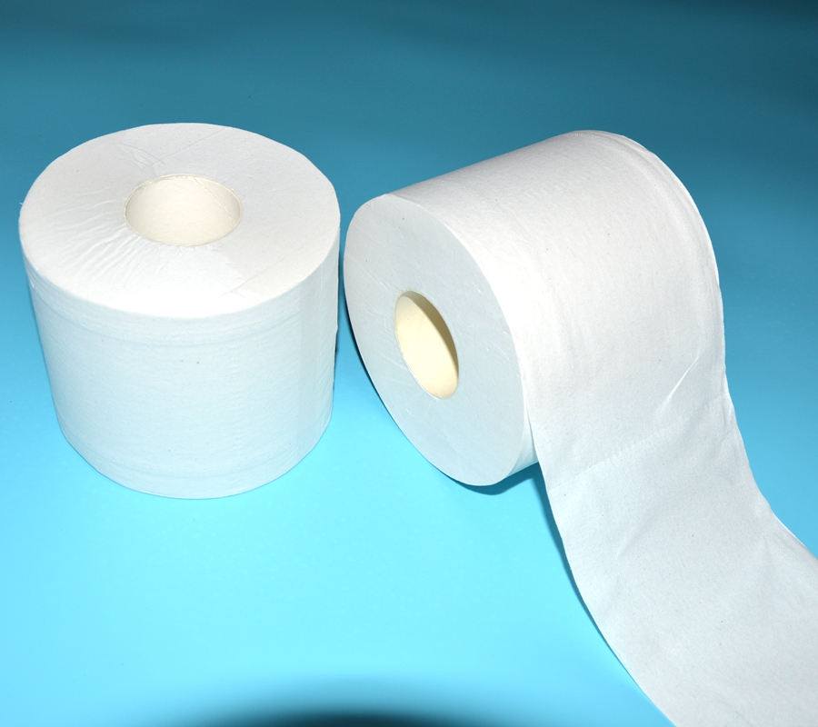 Recycled toilet tissue paper