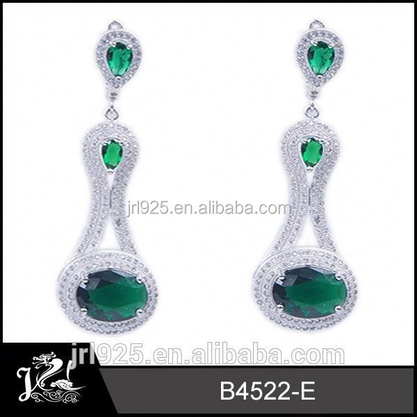 Alibaba Express Zircon Paved  fashion earring casting