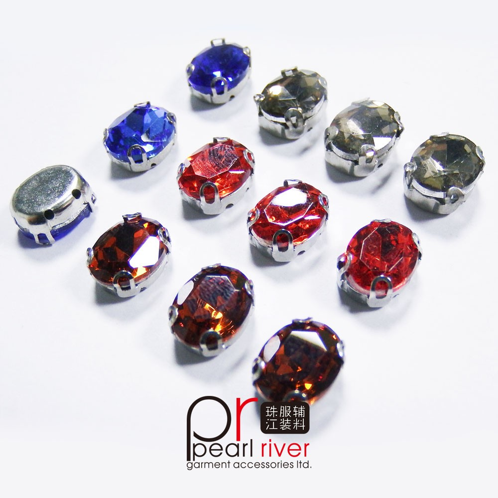 CC-009 Crystal loose beads with claw wholesale, crystal rhinestone glass bead resin with clow sewing accessories sew on