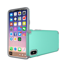 Factory OEM Shockproof Ultra Slim Hybrid Mobile Cell Phone Plastic PC TPU Back Cover Magnetic Car Holder Case For iPhone X