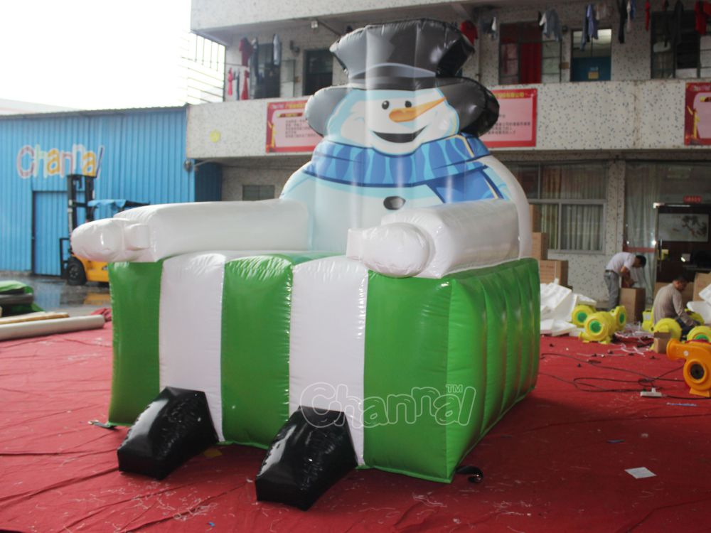 Snowman King Throne Inflatable PVC Chair With Cheap Prices For Christmas Party
