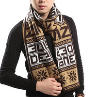 2016 winter latest design warm high quality 5 collors for choice floral with words wholesale muffler stylish men scarf