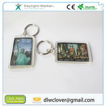 acrylic plastic blank picture insert keyring