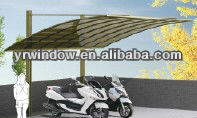 stronger modern aluminum carport design on sales