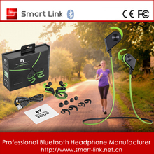 Sport bluetooth magnet headphones with clear loud volume for smart phones smart watch