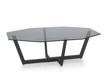 Tempered Glass Top table coffee,powder coated frame new furniture