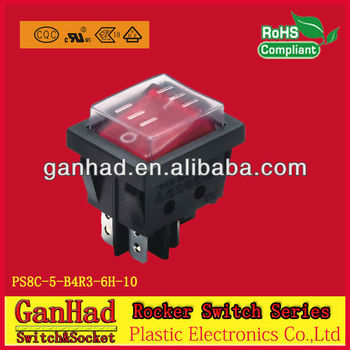 Double Rocker switch&lighted 120v 16A/250Vrocker switch