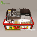 2018 best selling fast food snack mexico burrito kiosk with wooden counter on sale