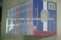 5.2mm ps color cd jewel case 25pcs shrink/5.2 ps cd case for 25pcs shrink