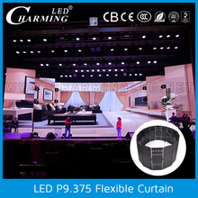 Graphics Display Function and Full Color Tube Chip Color LED curtain